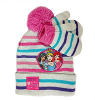 Beanie Cap Disney Princess Jasmine  Ariel & Belle Mittens Set 403758
