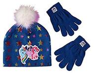 Beanie Cap My Little Pony Rainbow Blue Gloves Set 403987