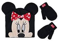 Beanie Cap Minnie Mouse Polka Dot Bow Mittens Set 403666