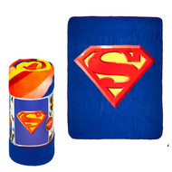 "Blanket DC Comcis Superman Shield Blue 50""x60"" 044171"