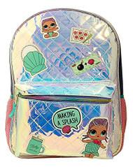 "Backpack L.O.L Surprise Blue Shiny 16"" 027633"