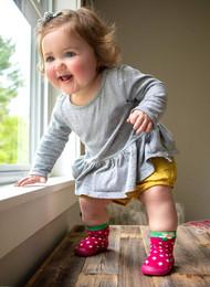 Baby Rubber Snekz Sock Shoe Nuby Strawberry S 60003S