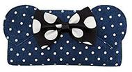 Zip-Around Wallet Minnie Mouse Denim Polka Dot wdwa1069