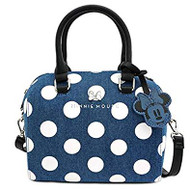 Hand Bag Minnie Mouse Denim Polka Dot Duffle wdtb1755