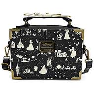 Tote Bag Disney Princess Black And White Princess Print wdtb1789