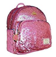 Mini Backpack Sleeping Beauty Pink Sequined wdbk0894