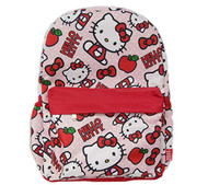 "Backpack Hello Kitty Kitty, Apple & Red Bows 16"" 007429"