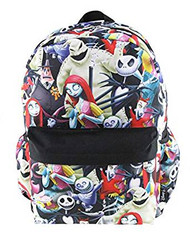 "Backpack Nightmare Before Christmas All Over Print 16"" 007313"