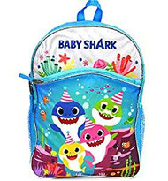 "Backpack Pink Fong All Baby Shark 16"" Blue BABY16"