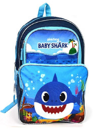Backpack Pink Fong Daddy Shark Blue SHARBA