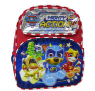 "Small Backpack Paw Patrol Mighty Action Blue 12"" 008471"