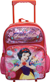 Large Rolling Backpack Disney Princess Snow White Red 135690-2