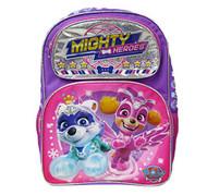 """Backpack Paw Patrol Mighty Heroes Purple 16"""" 008433"""