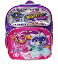 """Small Backpack Paw Patrol Mighty Heroes Purple 12"""" 008426"""