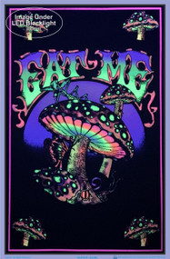 "Poster Eat Me Poster Flocked Blacklight 24""x36"" Wall Art bl1970"