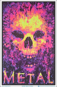"Poster Metal To The Bone Flocked Blacklight 23""x35"" Wall Art bl2005"