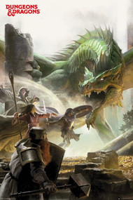 """Poster Dungeons & Dragons Adventure 24""""x36"""" Wall Art p4889"""
