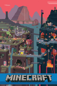 "Poster Studio B Minecraft World 24""x36"" Wall Art p2914"
