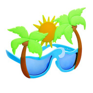 Party Costumes Sun-Staches Palm Trees SunStaches SG3267