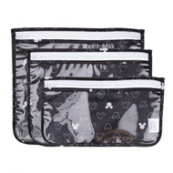 Clear Travel Bag 3 Pack Disney Mickey Mouse Icon B+W ZB3-DMK14
