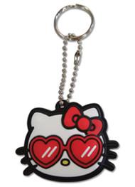 Key Cap Hello Kitty Heart Sunglasses PVC ge48219