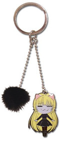 Key Chain Black Cat Eva Metal ge3821
