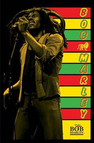 "Poster Studio B Bob Marley Flocked Blacklight 23""x35"" Wall Art bl2030"