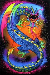 """Poster Dragon Flocked Blacklight 23""""x35"""" Wall Art bl2061"""