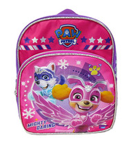 "Small Backpack Paw Patrol Mighty Daring Pink 12"" 008419"