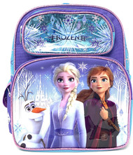 "Small Backpack Disney Frozen 2 Elsa Olaf & Anna 12"" 008631"
