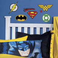 Wall Decal DC Comics Superhero Logos Peel/Stick