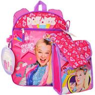 Backpack Jojo Siwa w/Lunch Kit, Bottle, Pencil Case & Carabiner