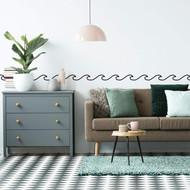 Wall Decal Roommates Simplistic Waves Peel/Stick