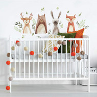Wall Decal Watercolor Woodland Critters Peel/Stick