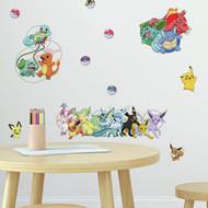 Wall Decal Pokemon Favorite Character Peel/Stick