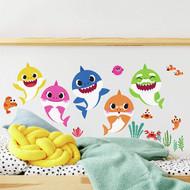 Wall Decal Pink Fong Baby Shark Peel/Stick