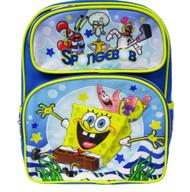 """Small Backpack SpongeBob SquarePants Smooth Sailing 12"""" 008990"""