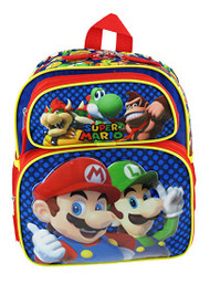 "Small Backpack Super Mario Bros Mario Madness 12"" 211213"