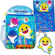 Backpack Pink Fong Baby Shark 5-Piece Combo Set 43696