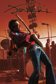 """Poster Jimi Hendrix Sepia 24""""x36"""" Wall Art n241455"""