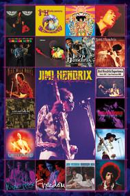"Poster Jimi Hendrix Album Covers 24""x36"" Wall Art n241457"