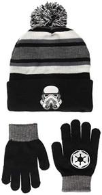 Beanie Cap Star Wars Storm Trooper Black/Grey w/Glove 701525