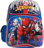 """Backpack Marvel Spiderman Blue 16"""" 005784"""