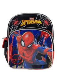 "Mini Backpack Marvel Spiderman Black/Red 10"" 008662"