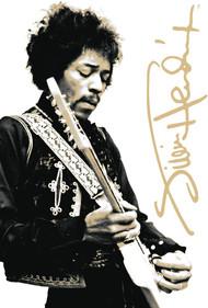 Tin Sign Jimi Hendrix B&W Metal Plate 30231