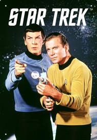 Tin Sign Star Trek Kirk & Spock Metal Plate 30240