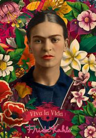 Tin Sign Frida Khalo Collage Metal Plate 30241