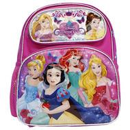 Small Backpack Disney Princess Cinderella, Snow White, Ariel & Friends Purple