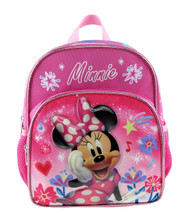 """Mini Backpack Minnie Mouse Nice Day Pink 10"""" 003906"""