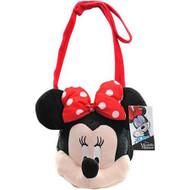 Plush Shoulder Bag Disney Minnie Mouse Face 508065